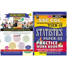 SSC CGL STAFF SELECTION COMMISSION COMBINED GRADUATE LEVEL TIER-II STATISTICS PAPRER-III PRACTICE WORK BOOK