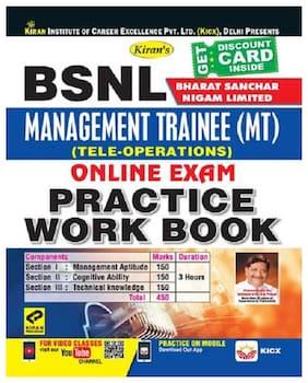 KIRANS BSNL (BHARAT SANCHAR NIGAM LIMITED) MANAGEMENT TRAINEE (MT)(TELE-OPERATIONS) ONLINE EXAM PRACTICE WORK BOOK - ENGLISH