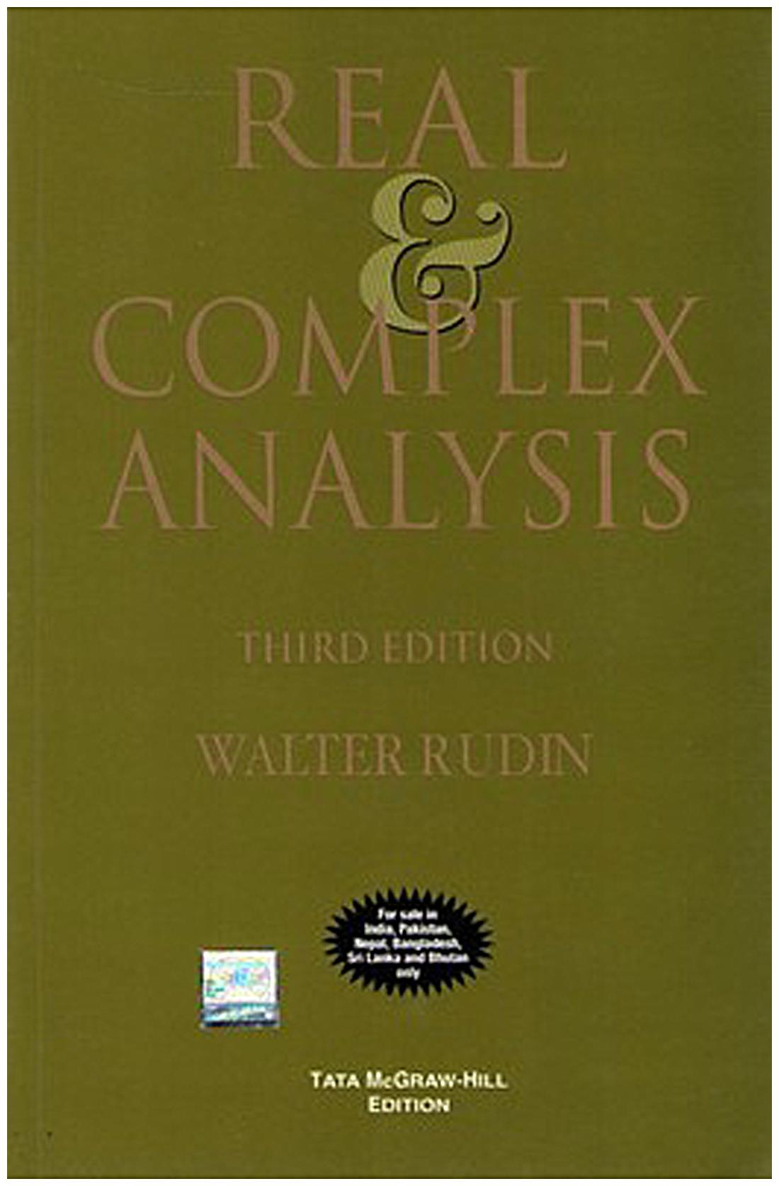 Real and Complex Analysis 3rd Edition