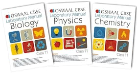 Oswaal CBSE Laboratory Manual Class 11 (Set of 3 Books ) Physics;Chemistry & Biology (For March 2019 Exam)