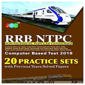 20 Practice Sets RRB NTPC Non-Technical Popular Categories Computer Based Test 2019 With Previous Years Solved Papers