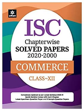 ISC Chapterwise Solved Papers Commerce Class 12th (2020-2000)