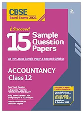 15 Sample Question Paper Accountancy Class 12 for 2021 As per Latest Reduced Syllabus