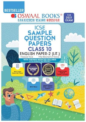 Oswaal ICSE Sample Question Papers Class 10 English Paper 1 Language Book (Reduced Syllabus for 2021 Exam)
