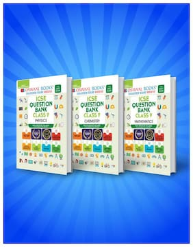 Oswaal ICSE Question Bank Class 9 (Set of 3 Books) Physics, Chemistry, Maths (For Reduced Syllabus 2021)