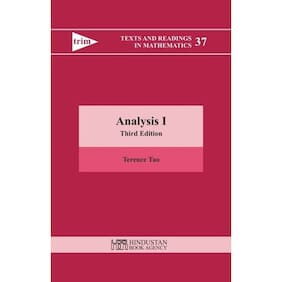 Analysis I 3Rd Edition (Texts And Readings In Mathematics)Vol 37
