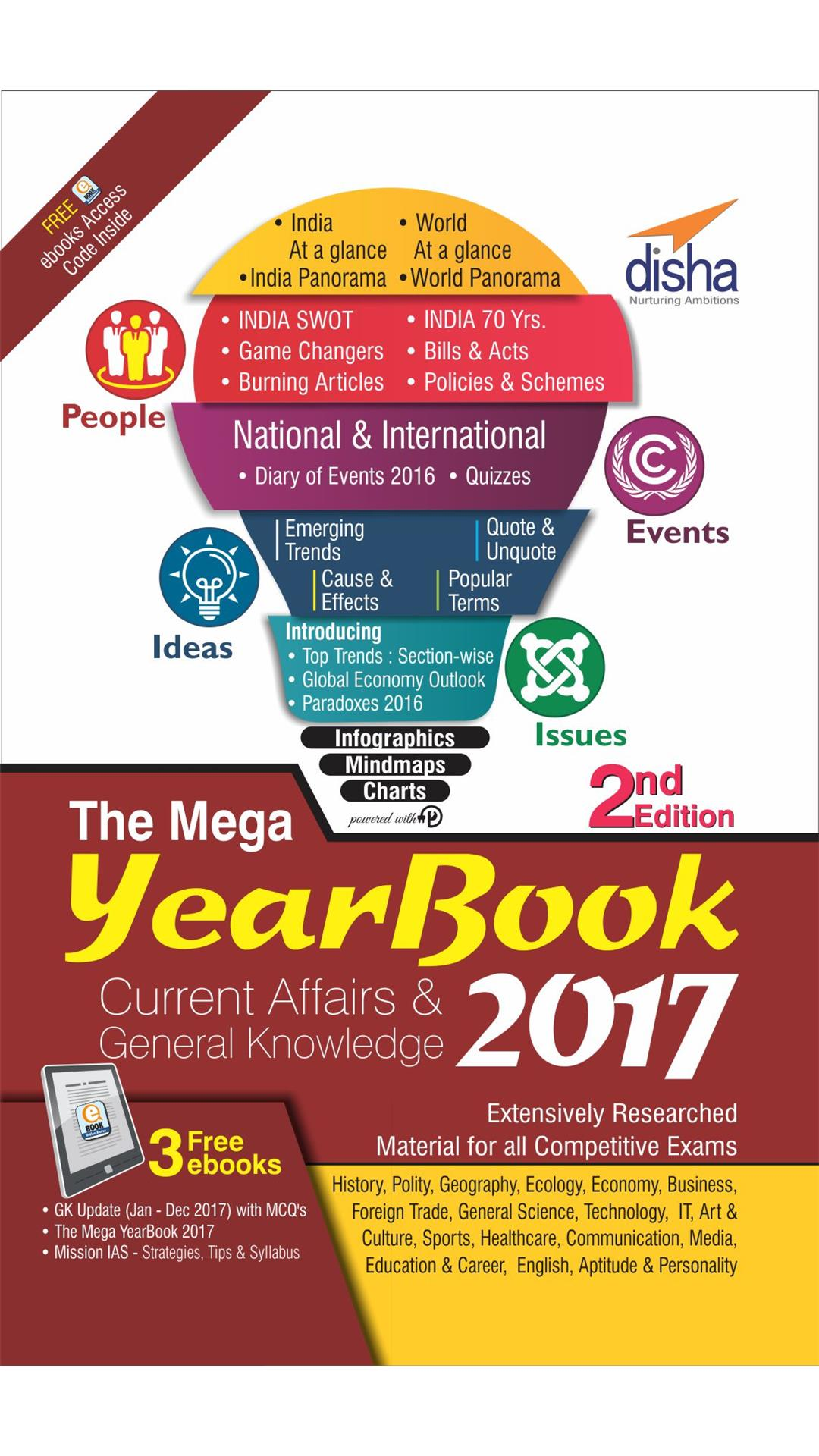 THE MEGA YEARBOOK 2017 - Current Affairs & General Knowledge for Competitive Exams - 2nd Edition
