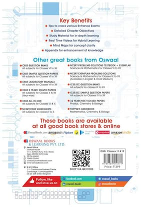 Oswaal Topper's Handbook Classes 11 & 12 and Entrance Exams Physics Book
