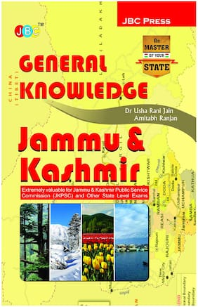 GENERAL KNOWLEDGE :  JAMMU & KASHMIR   Extremely valuable for Jammu & Kashmir Public Service Commission (JKPSC) and Other State Level Exams.