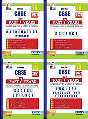 CBSE Past 7 Years Solved Board Papers and Sample Papers Combo Pack for Class 10 Maths Science Social Science English Language and Literature By SHIVDAS (2021 Board Exam Edition) (4 Book Set)