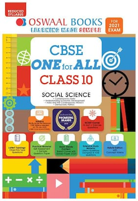 Oswaal CBSE ONE for ALL, Social Science, Class 10 (Reduced Syllabus) (For 2021 Exam)
