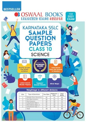 Oswaal Karnataka SSLC Sample Question Papers;Class 10;Science (For 2021 Exam)