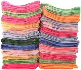 100% Cotton Handkerchief for Women_Flower, Love, Cartoon design_ Multi-color ( Pack of 24)