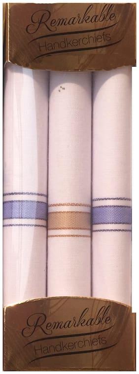 100% White Cotton Handkercheif for men & boys (Pack of 3)
