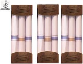Men Handkerchiefs Pack of 9 ( White )