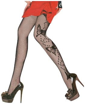960f58b4176 1Pair Thigh-Highs Long Exotic Hot Women Girl Lace Top Black Stockings Free  Size