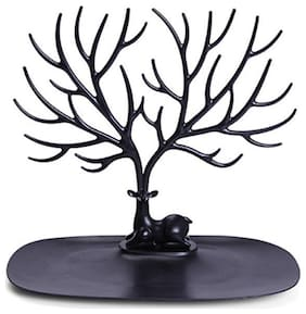 4square Imported Deer Tree Jewelry Rack Display Stand Holder Organizer black