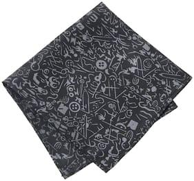 69th Avenue Satin Pocket Square - Black