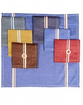 Aadikart Men's Color Handkerchief -pack of 6