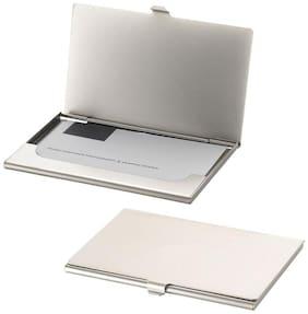 Aadishwar Creation Grey Steel Card Holder - Set of 2