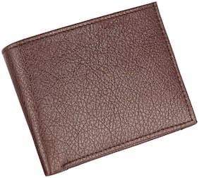 AAR BEE WORLD Men Brown Leather Bi-Fold Wallet ( Pack of 1 )
