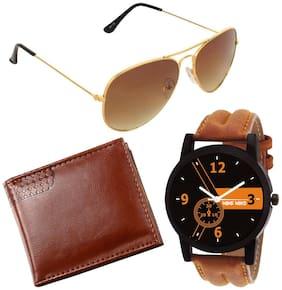 Adam Jones Aviator Sunglasses for Men With free Wallet + Watch