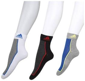 Adidas Coloured Ankle Length Socks-3 Pair