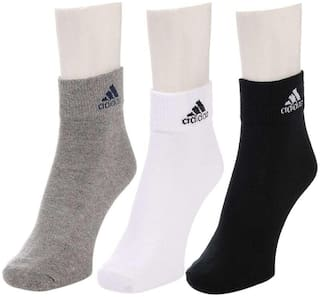 Adidas Multicolor Ankle Length Socks ( Pack of 3)