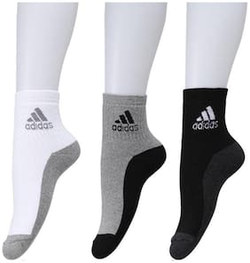 Adidas Multicolor Ankle Length Socks( pack of 3)
