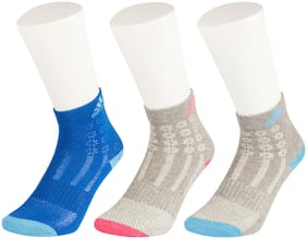 Adidas Multicolor Cotton Ankle Socks-Pack Of 3