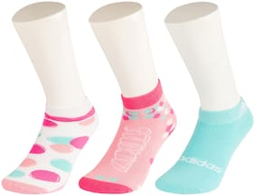 Adidas Multi Colour Casual Ankle Length Socks For Women