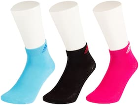 Adidas Multicolor Cotton Ankle Socks -Pack Of 3