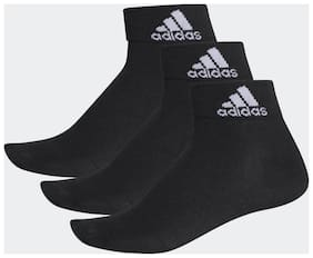 Adidas Polyester Black Ankle Length Socks For Unisex