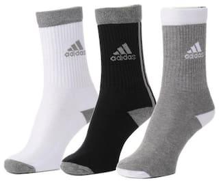 Adidas Unisex Full Length Socks - 3 Pairs