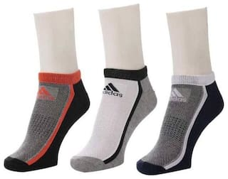 Adidas Unisex Cotton Calf Length Socks - Multi ( 3 )