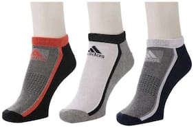 Adidas Unisex Half Cushion Ankle Socks - 3 Pair Pack