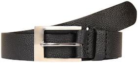 Aditi Wasan Genuine Leather Men's Black grain belt