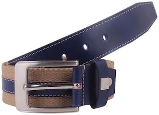 Aditi Wasan Blue/Beige Leather Belt