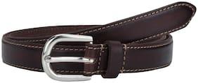 Women Leather Belts ( Brown )