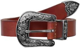 Women Leather Belts ( Tan )
