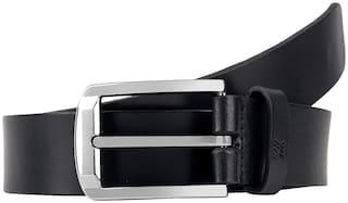 Aditi Wasan Genuine Leather Men's Black formal belt