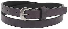 Aditi Wasan Women Leather Belt - Purple