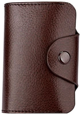 Aeoss Fashion New Genuine Leather Identification Wallets Quality 13 Slot Little Soft Color hasp Credit Card Organizer for Men Women