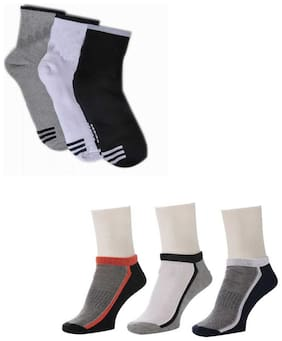 Air Sports Ankle Length Socks ( Pack Of 6 )