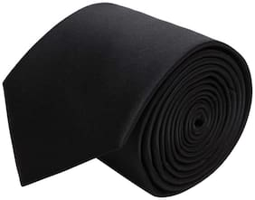 Air Sports Black Satin Tie For Men Casual & Formal