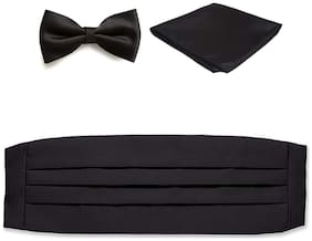 Air Sports Black Cummerbund|Tuxedo Belt for Men and Boys
