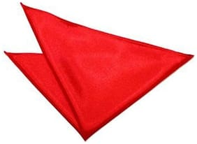 Air Sports Satin Pocket Square - Red