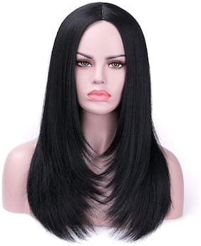 Akashkrishna  Beautiful Real Like  Hair Wigs for girls with Middle Parting Natural Layer Women Ladies Party Cosplay Daily Use