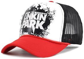 Alcove Unisex Red Linkin Park Printed Halfnet Baseball Cap
