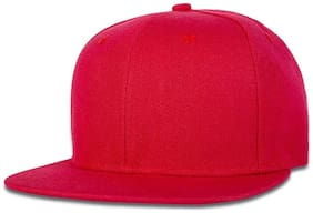 Alcove Unisex Red Hiphop/Snapback Cap